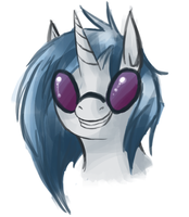 Vinyl Scratch Warm-Up Sketch by hipster-hooves