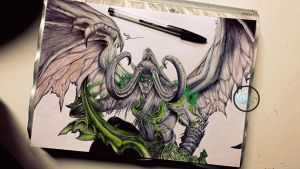-Final- Illidan Stormrage (World of Warcraft) by Caold