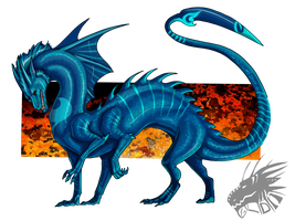 Blue Flame by Galidor-Dragon