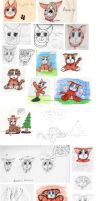Brownie Cat Sketch Dump by cakhost
