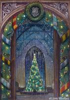 Hogwarts Christmas Card by nokeek