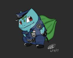 Officer Bulbasaur by ninjakensei