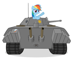 Rainbow Dash Finds a VK 1602 'Leopard' by MrLolcats17