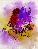 BatGirl Colorfully Abstract by IronWarrior777
