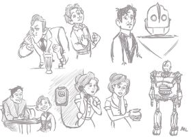 Iron Giant Sketches by momentaifey