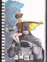 Batman and Carrie (Robin) by theexodus97