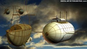 Steampunk Airship Meeting by Foolishpaul