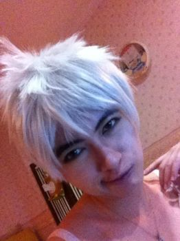 Jack Frost wig+makeup test Part II by Annachuu