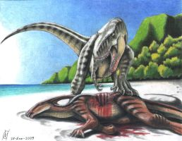 Beach of the t-rex by VyToR