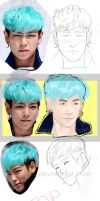 From human to Anime: T.O.P by TwinElf99