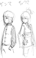Genma and Kyoumi doodle by hugfiend