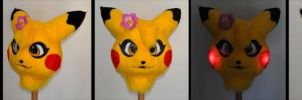Finished Pikachu Cosplay Fursuit Head by Sethaa