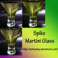 MLP Spike Martini Glass by AnimeAmy