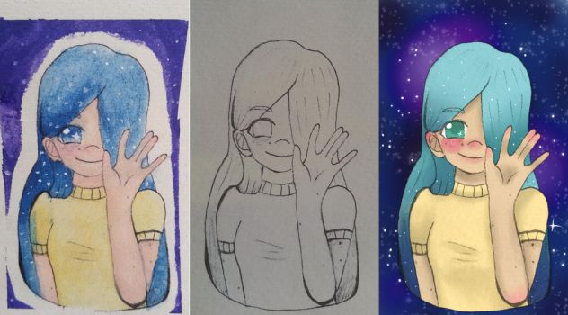 Three Versons Of The Same Drawing by gunill2608