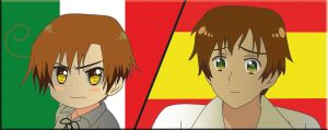 Romano and Spain by Mizu1993
