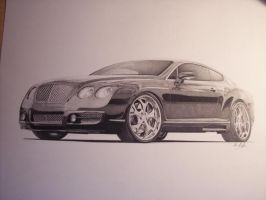 Bentley GT Finished by SketchesByChris