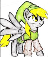Derpy Hooves as link by vicockart