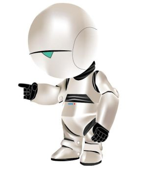 Marvin the paranoid android by yummy-0