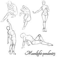 Female Pinup Poses by Moonlight-pendent13