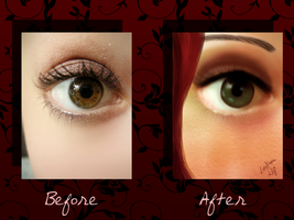 Eye me/Before After by LeviathanDy