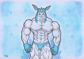 A buff glaceon by Spere94