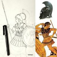 HWS Ancient Greek (Athenian) Woman Warrior - WIP by Gambargin