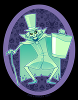 Hatbox Ghost by ZoeStanleyArts