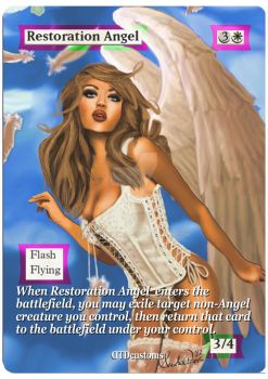 Restoration Angel **Sexy Foil Altered Art** by DTDCustoms