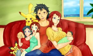 Ash And Melodu Family Pic C by DE-Juanchi