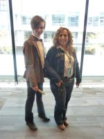 The Doctor and River Song by thedarkenedkeeper