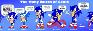 The Many Voices of Sonic by Cuddlesnowy