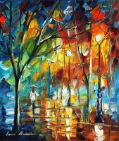 The song of rain by Leonid Afremov by Leonidafremov