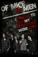 Of Mice and Men Band Poster by MICHA3L26