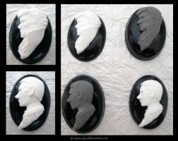 Sherlock and John Handcrafted Cameos by qui-quae-quod