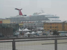 The Cruise ship the Carnival Destiny in Venice by OceanRailroader