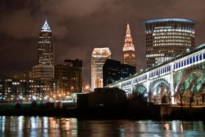 Riverbed view of Cleveland by FT69