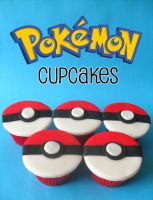 Pokemon Cupcakes. by RebeccaRoseBrine