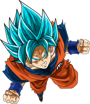 GOKU SSJ BLUE by Supergoku37