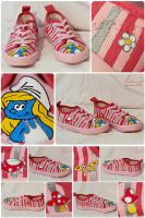 Smurfette Sneakers by Stardust-Splendor