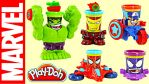 Play-Doh Marvel Can-Heads!!! by vancamelot