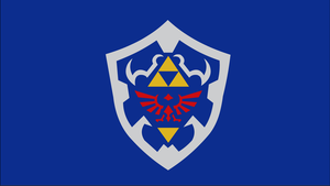 Hylian Shield by dragonitearmy