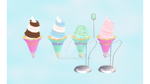 :MMD: Fancy Ice Cream DL by EM-IKO