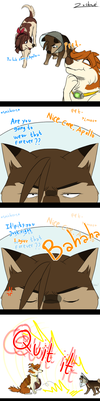Cone of shame by cerberus-monk