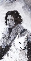 Jon Snow and Ghost by ACicco
