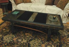Industrial, asian table by MetalCreationZ