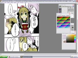 WIP- Papa Maka Comic Color by inuyashalover1213