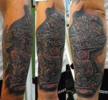 PREHISPANIC  MAYAN TATTOO by ODIETATTOO