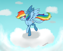 Rainbow pony by NotEnoughApples