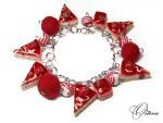 Bracelet 'Strawberry' by OrionaJewelry