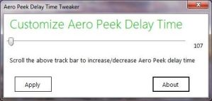 Aero Peek Delay Time Tweaker by parassidhu